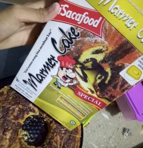 Isacafood Marmer Cake : Cara Mudah Membuat Cake