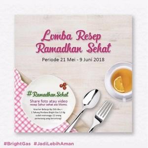 Lomba Resep Ramadhan Sehat Berhadiah Tabung & Voucher Belanja