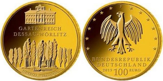 100 euros oro 2013 alemania