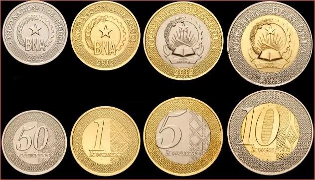 nuevas monedas Angola