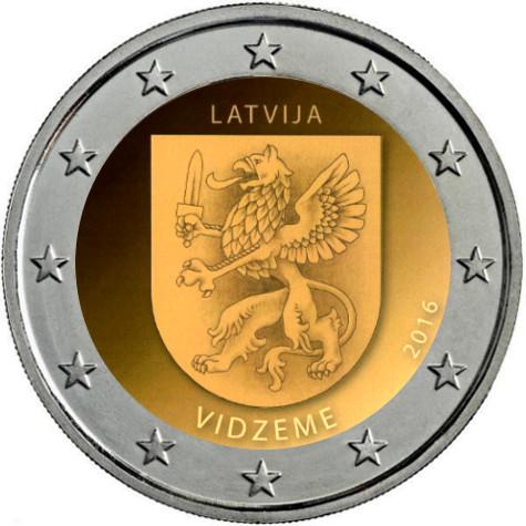 Moneda de 2 euros conmemorativa Letonia 2016 La-1