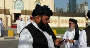 سهیل شاهین، په قطر کې د طالبانو د دفتر مخته