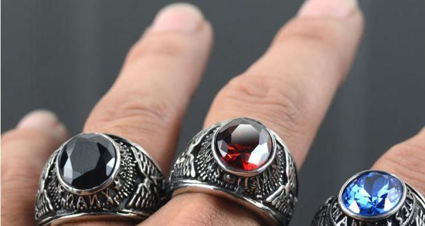 brand-titanium-thai-silver-men-finger-ring-blue-red-black-crystal-stone-cool-man-ring