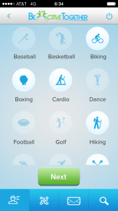 Step 1: choose your sports/activities