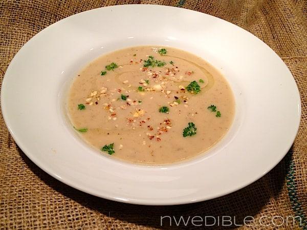 Sunchoke Soup with Hazelnuts