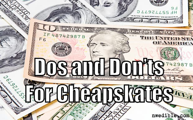 Dos and Don'ts for Cheapskates