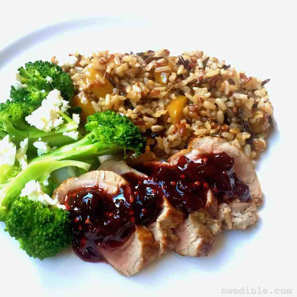 Pork with Cherry Chutney