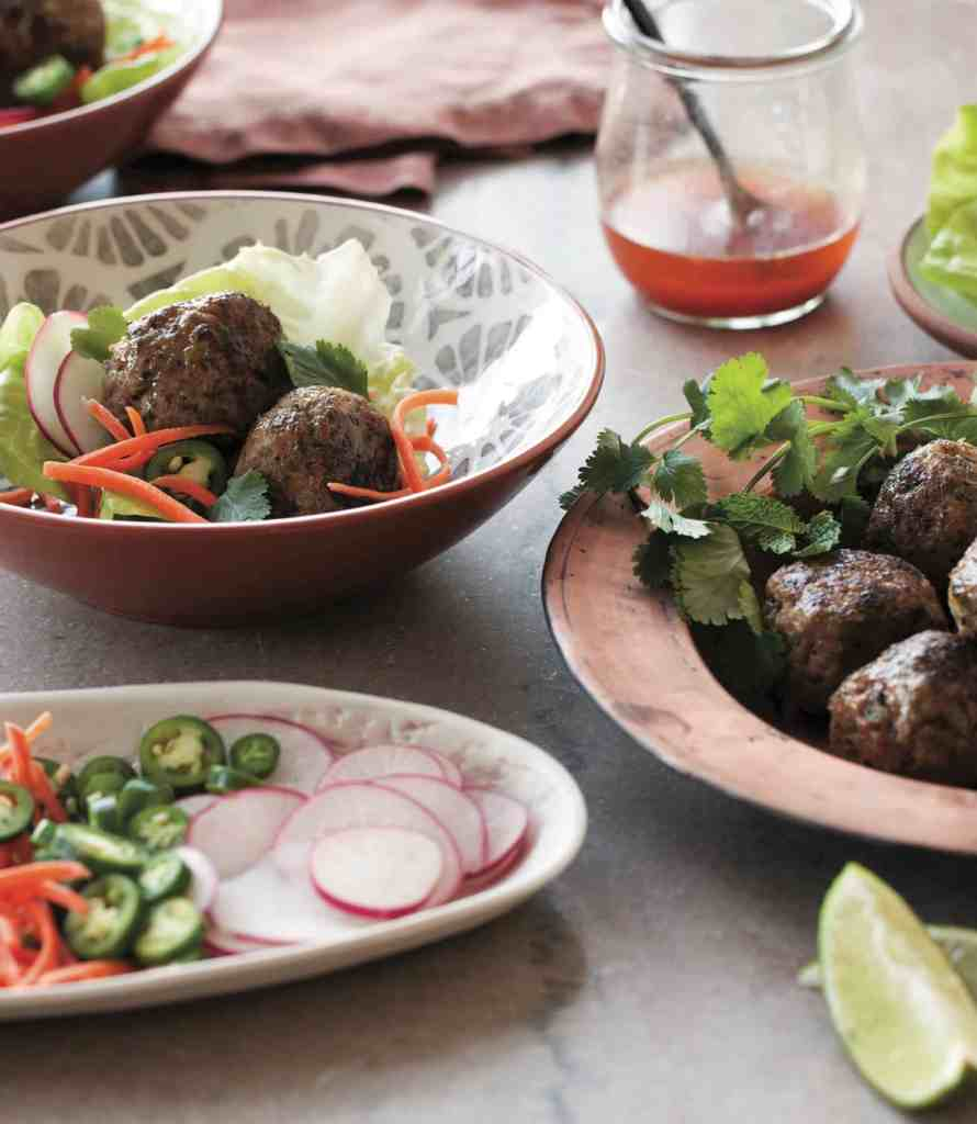 Green Herb and Peanut Meatballs