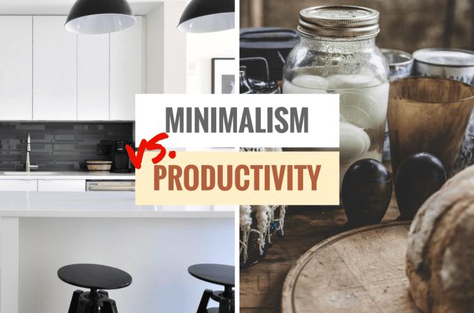 Minimalism Vs. Productivity