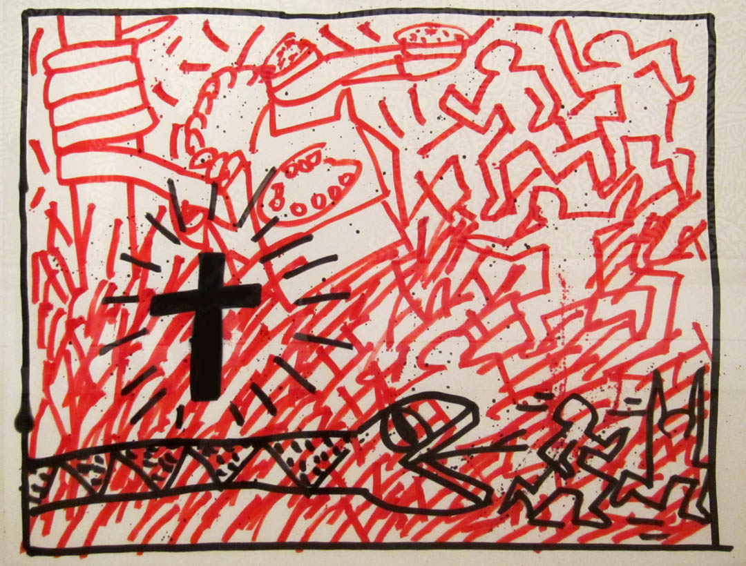 Keith Haring, religious artist? Show at Brooklyn Museum.