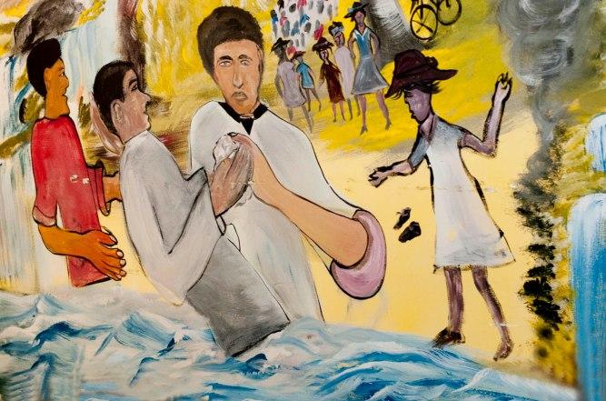 Mural at Mt. Faith Zion Church, South Crown Heights, Brooklyn