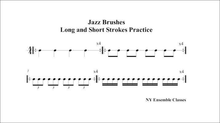Jazz Brushes - long and short strokes