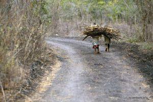 Nyumbani Village Stick Bundle Workers Africa Kenya