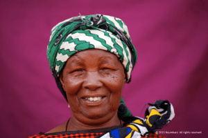 African woman smiling happy Nyumbani