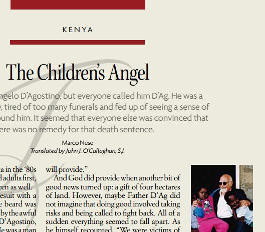 Fr. Angelo D'Agostino — The Children's Angel