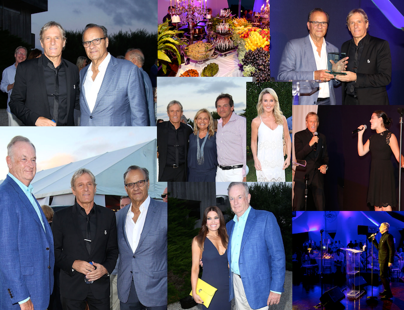 Sighting: Michael Bolton, Bill O'Reilly, and Joe Torre at Michael Bolton Charities Fundraiser on August 20