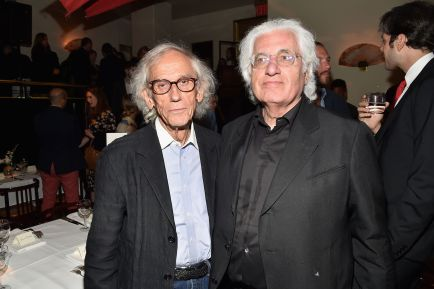 Christo, Germano Celant_Credit Patrick McMullan
