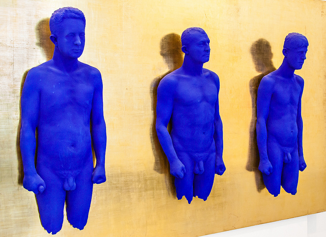 """Yves Klein """"Three pure blue pigmented sculptures"""""""