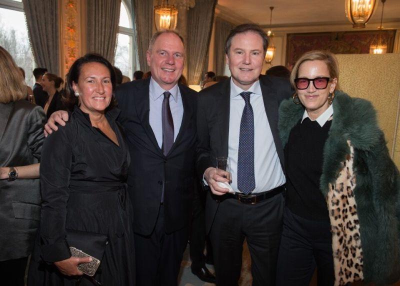 BEAUTY FASHION editor Christine Scott Ledes, Symrise President Achim Daub, Symrise CEO Dr. Heinz-Jeurgen Betram and Vogue Publisher Susan Plagemann