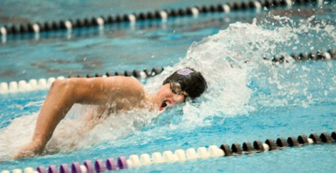 Men's swimming, diving open season with win