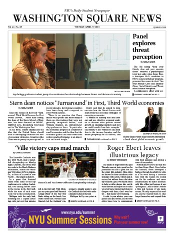 Today's Front Page – 04/09/13