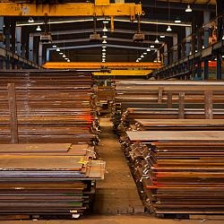Stacks of Steel Plates