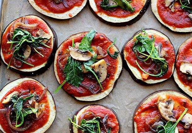 Paleo Eggplant Pizzas