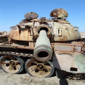 Char détruit en Irak
