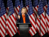 U.S. Democratic presidential candidate Clinton speaks on national security in San Diego, California
