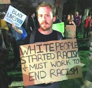 BLM White Sign Holder