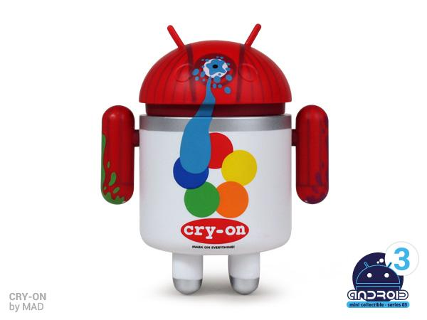 cryon Spray Cry on em forma de robô Android