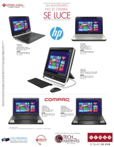 Siman ofertas en computadoras HP y COMPAQ - 17oct13