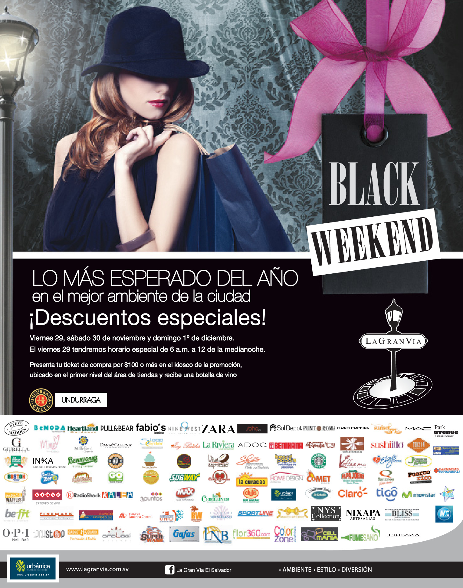 BLACK Friday WEEKEND La Gran Via san salvador - 26nov13