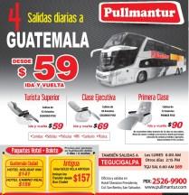 Buses a Tegucigalpa HONDURAS via PULMANTUR