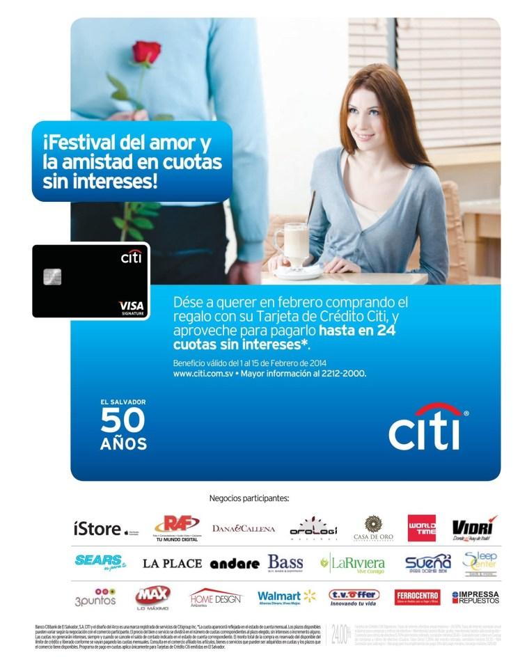 Festval del amor y la amistad Tarjeta banco CITI - 05feb14
