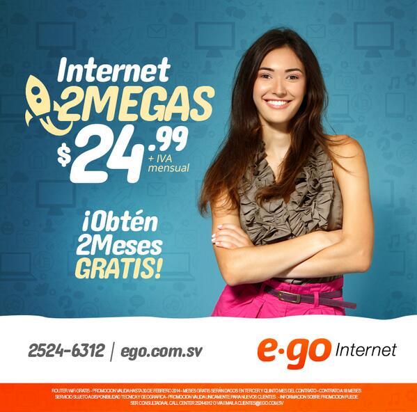 Internet 2 megas GRATIS 2 meses ego el salvador