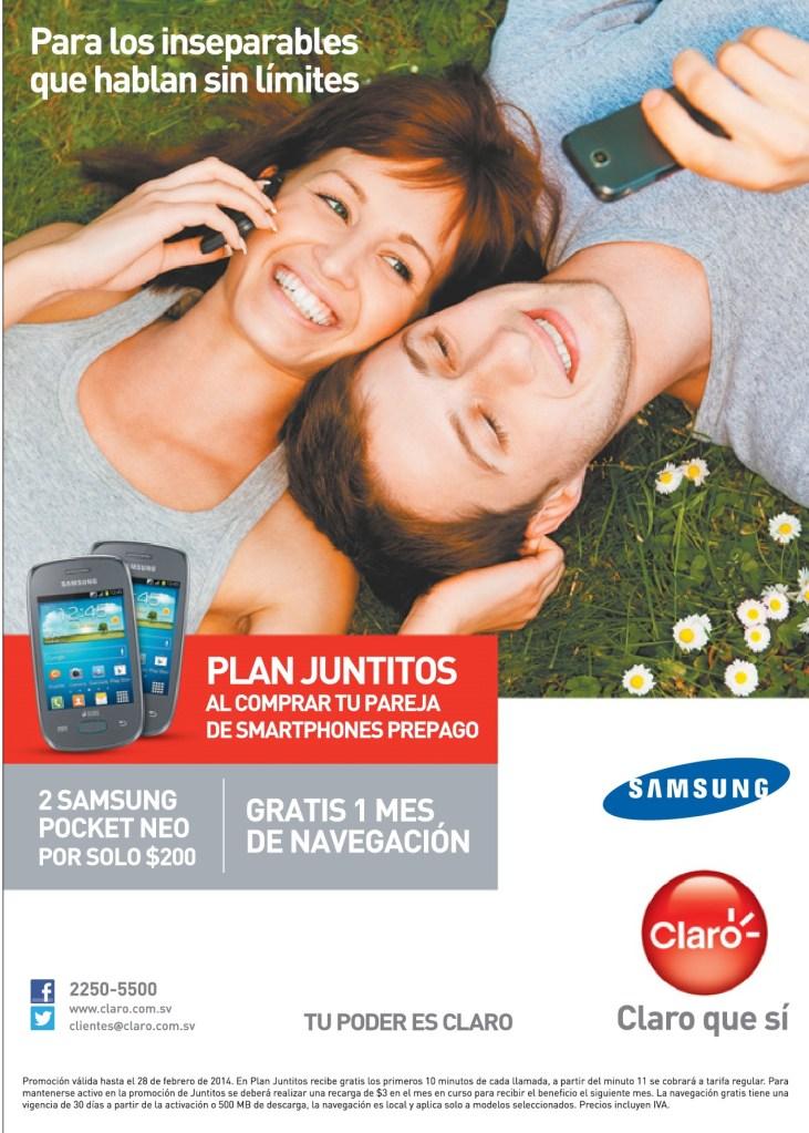 PLAN Juntitos Samsung Pocket NEO CLARO promociones - 08feb14