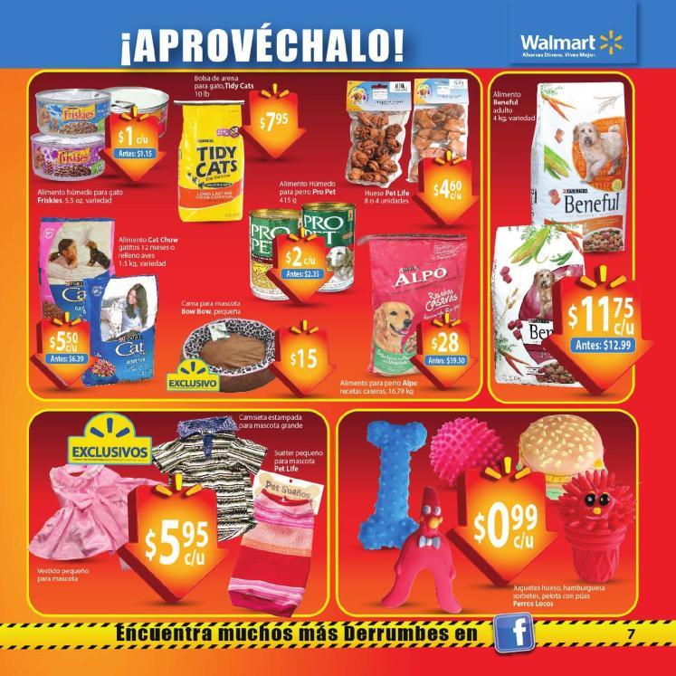 Walmart Derrumbre de Precios guia de compras no3 Febrero 2014 cuidado mascota