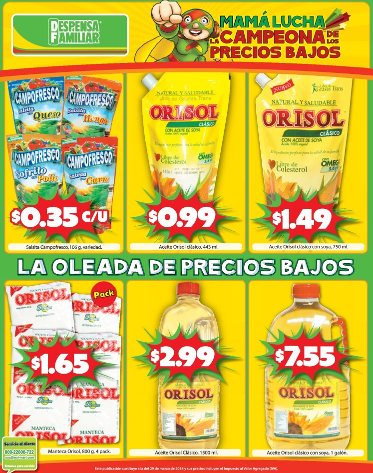 Ofertas aceite orisol - 15abr14