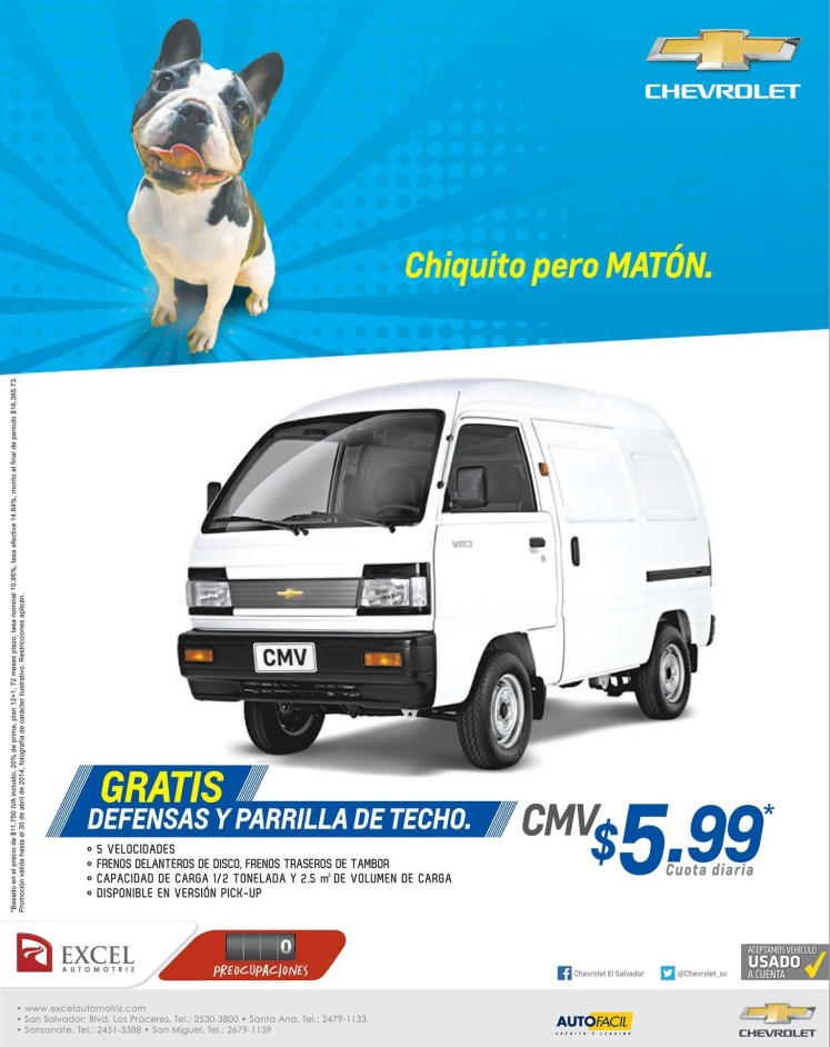 chiquito pero MATON chevrolet PANEL - 21abr14