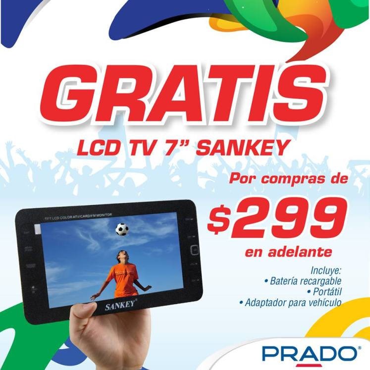 GRATIS LCD tablet TV sankey 7 pulgadas - 12may14