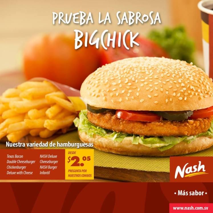 NASH el salvador BIGCHICK burger - may14