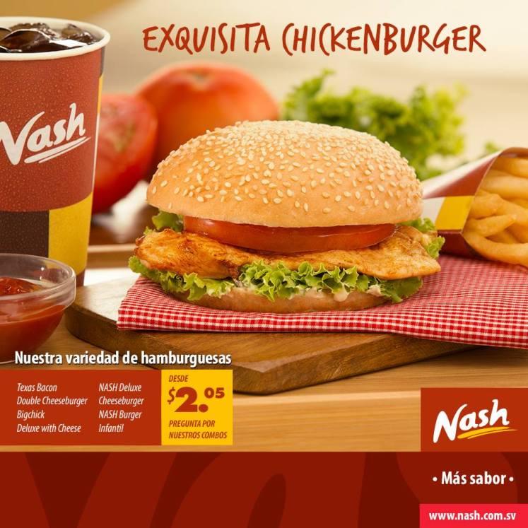 Nash exquisita Chicken burguer