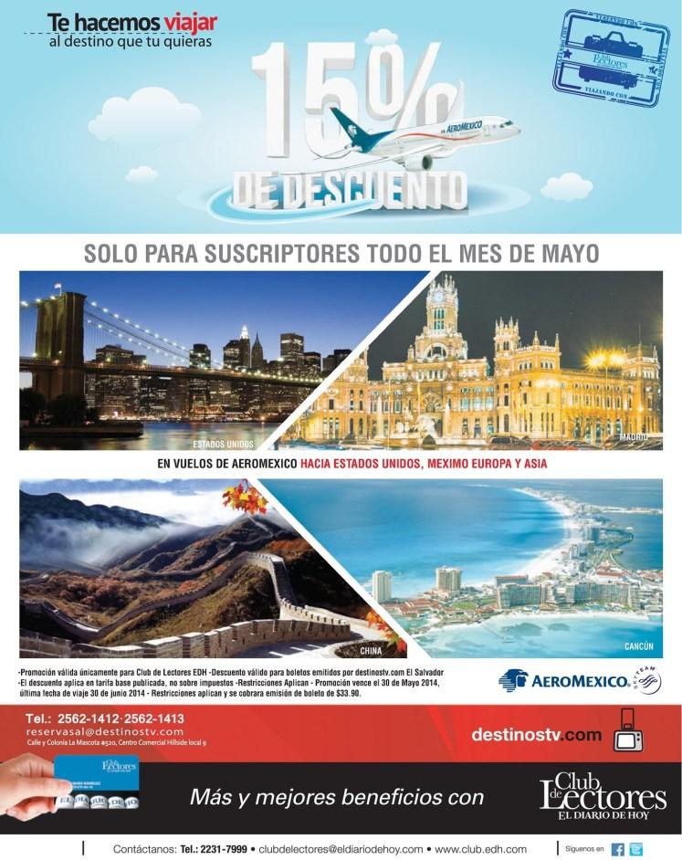 Vuelos AEROMEXICO promotion club EDH