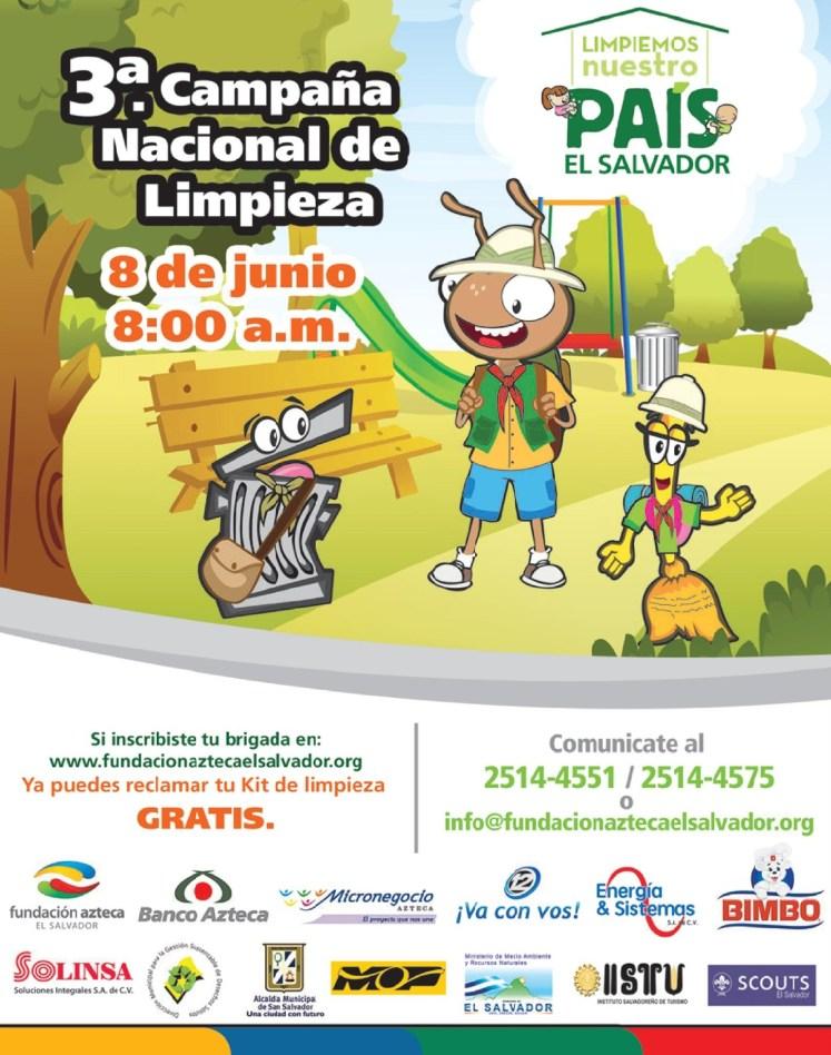 Campaña nacioal de limpieza EL SALVADOR