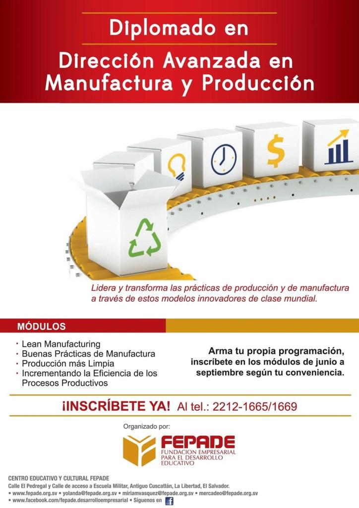Diplomado en direccionmanufactura y produccion FEPADE