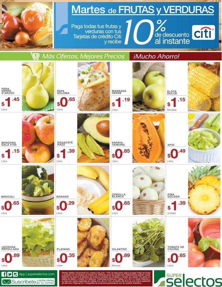 MARTES super selectos ofertas frutas y verduras - 03jun14