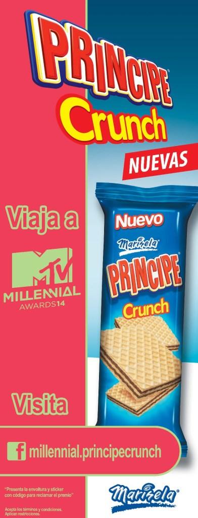 Nuevas principe CRUNCH cookies te lleva a MTV millennial
