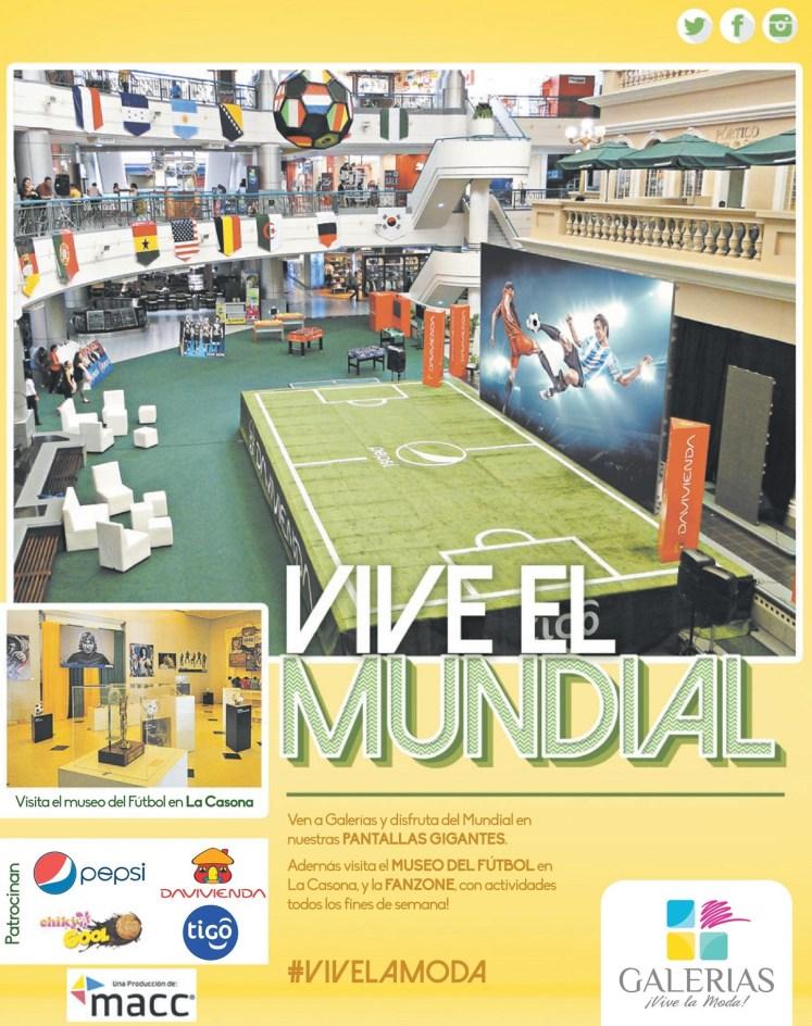 PANTALLAS GIGANTES de galerias para el mundial - 13jun14