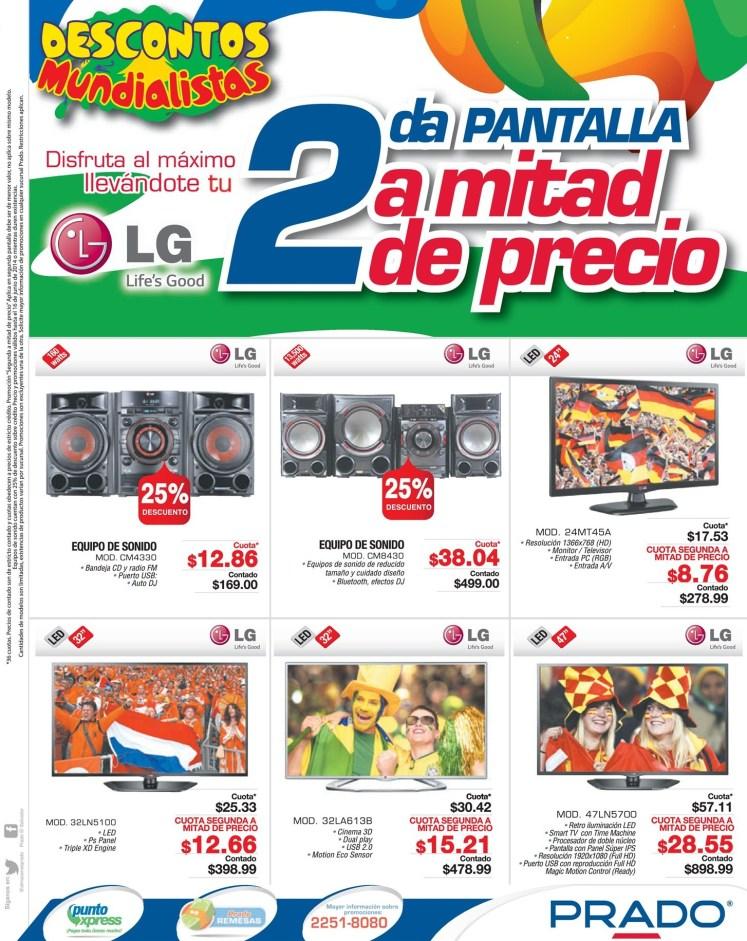 PRADO promociones mundialistas descuentos en PANTALLAS LG - 13jun14